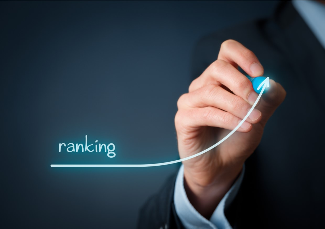 An image of the ranking going higher highlighting that we provide effective SEO that will deliver results.